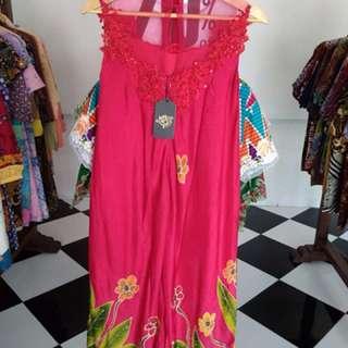 Sale Dress Batik Sutera Tulis