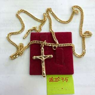 Necklace in 18 K Saudi Gold