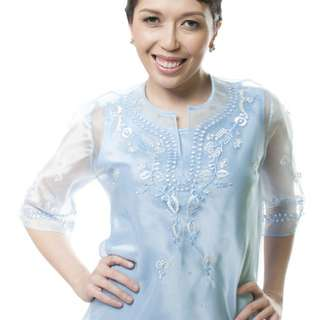 Lady's Barong (Light Blue)
