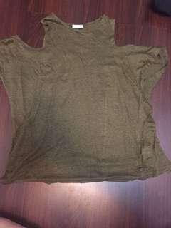 Green cut out shoulder- Zara
