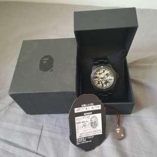 Bape迷彩黑鋼手錶