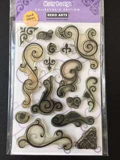 Hero Arts Fancy Scrolls Clear stamps