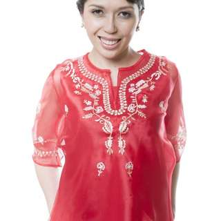 Lady's Barong (Red)