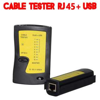 TCP038 Cable Tester Patch Code Tester RJ45 + USB / RJ45 + RJ11