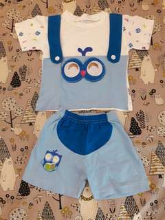#MakinTebel Baju Baby Owl Blue