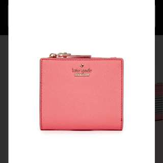 kate spade new york Women's Pink Cameron Street Adalyn Mini Wallet  粉紅 皮 銀包