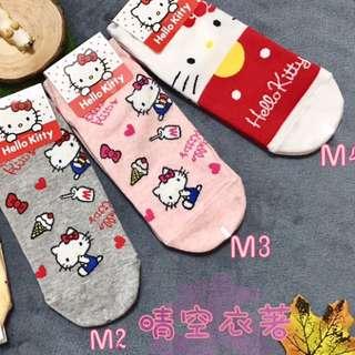 🚚 韓國襪凱蒂貓kitty襪 成人襪 短襪 kitty控 可愛系列 凱蒂貓控 正版韓國襪 韓國直送 晴空衣著