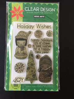 Hero Arts CL357 Holiday Dolls Clear Stamps