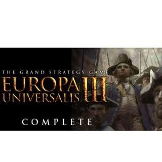 Europa Universalis III Complete (Normal Price S$15.00)