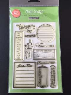 Hero Arts CL147 Favourite Journal Clear Stamps