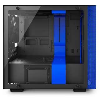 BNIB - Nzxt H200i Black/Blue TG ITX casing