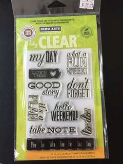 Hero Arts CL717 My Day Clear Stamps
