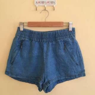 Zara Linen Shorts (Denim)