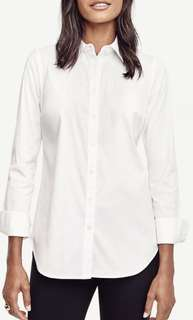 Long sleeve button up white top