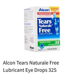 New Alcon Tears Naturale Free LUBRICATION  EYE DROPS