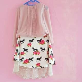 Skirt and Salem shirt