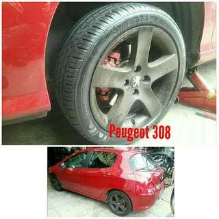 Tyre 225/45 R17 Membat on Peugeot 308 🐕 Super Offer 🙋♂️