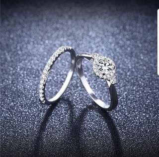 Platinum Plated Diamond Rings