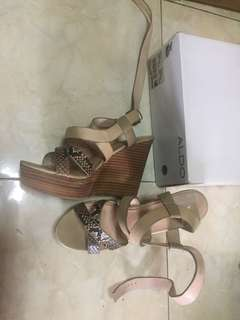 Aldo wedges Crosier Snake Skin Nude