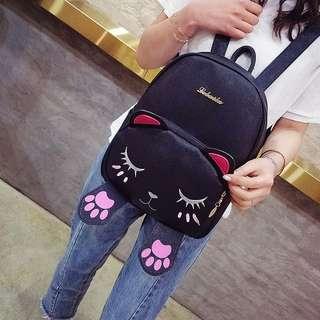 Fashion Womens Girls Cute Cat School Bags Backpack Travel Rucksack Shoulder Bag