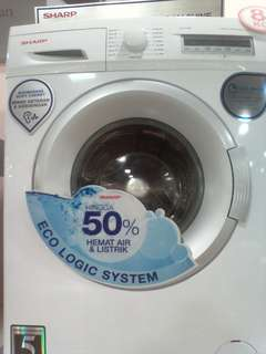 Cicilan mesin cuci SHARP kapasitas 8kg tanpa kartu kredit proses cepat 3 menit promo 0% untuk 6 bulan