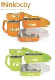 ThinkBaby 不銹鋼餐具4件套