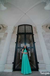 Mint Green Debut/ Prom Long Gown