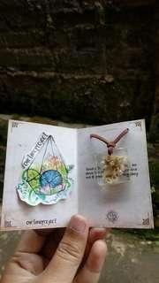 Kalung edelweiss, edelweiss flower pendant