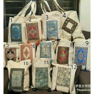 手工自創刺繡環保袋(7.9已售)