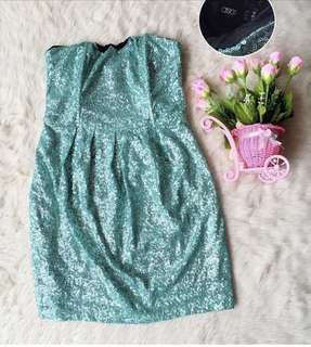 Premium dress ASOS Sequin ada tulang ny