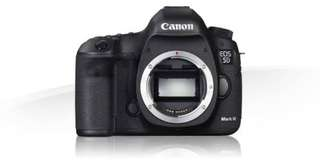 Cash/credit cannon eos 5D mark iii body only