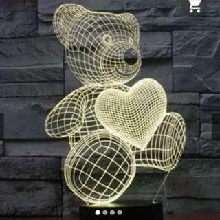 Bnib creative 3d bear lamp