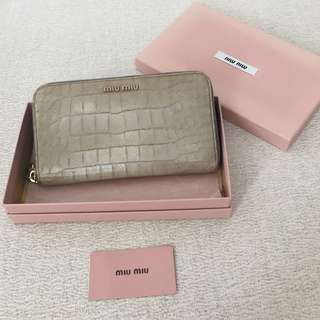 AUTHENTIC MIU MIU Long Zipped Wallet Purse