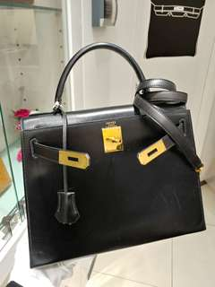 Hermes kelly 28 in black