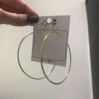 hoop earings gold