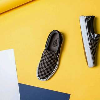 Vans Slip On Black Pawter Checkerboard