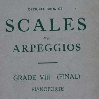 Music book :  Scales & Arpeggios ( Grade 8 )