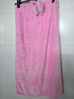 BN Bath Robe Tube with Side Slit and Headband