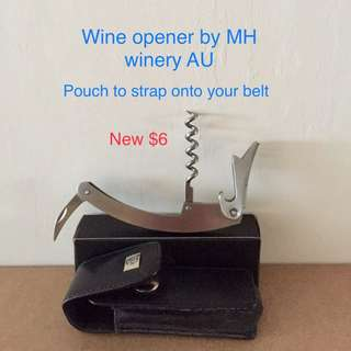 Wine opener with pouch