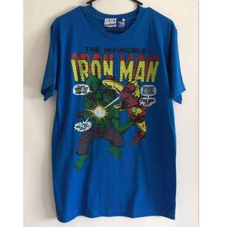 New - The Invincible Iron Man & Hulk Men's T'Shirt - Size L