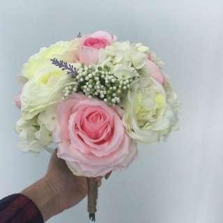 姊妹花球  三個 Flower bundle for bridesmaid x 3