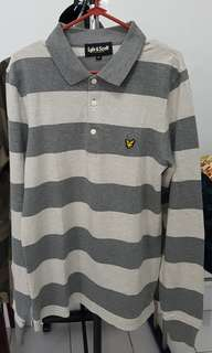 Lyle & Scott Polo size M - Grey Stripes
