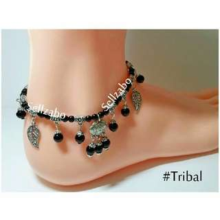 Girls Tribal Anklets Lucky Charm Black Colour Sellzabo Leg Ankles Ladies Accessories
