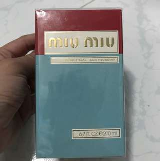 Miu Miu Shower Bubble Bath 200ml