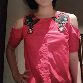 Flower red top #123moveon