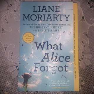 What Alice Forget - English Novel by Liane Moriarty