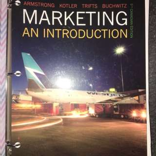MARKETING AN INTRODUCTION TEXTBOOK