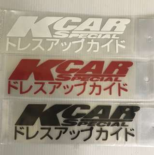 Car stickers size 15x4cm