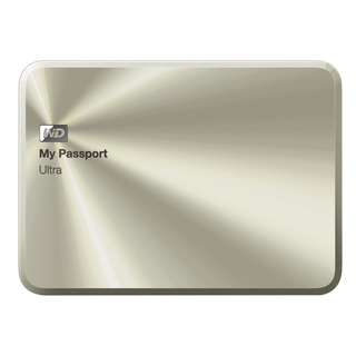 BNIB - WD 3TB Gold My Passport Ultra Metal Edition Portable External Hard Drive