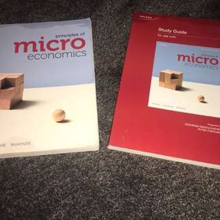 Mircro ecomics textbook + study guide